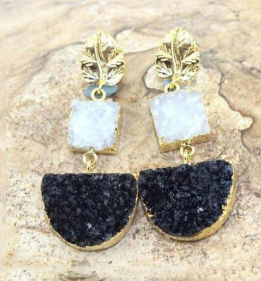 Druzy Earrings 01
