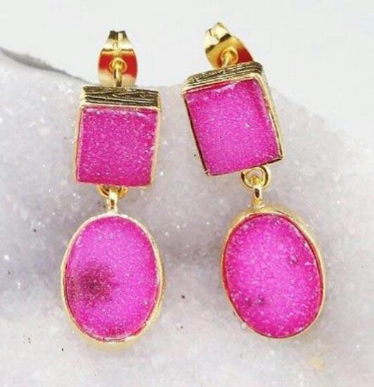 Druzy Earrings 02