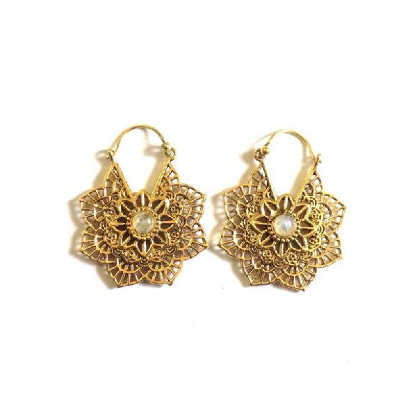 Brass Earrings 02