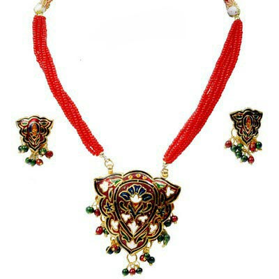 Meenakari Necklace Set 01