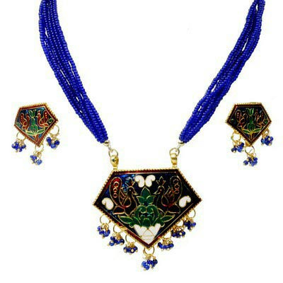 Meenakari Necklace Set 02