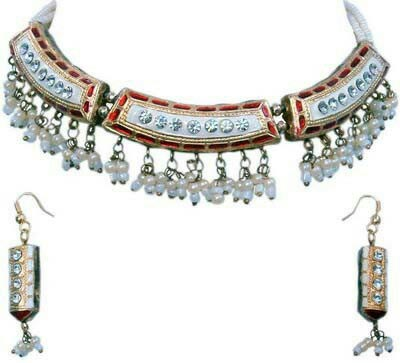 Meenakari Necklace Set 03