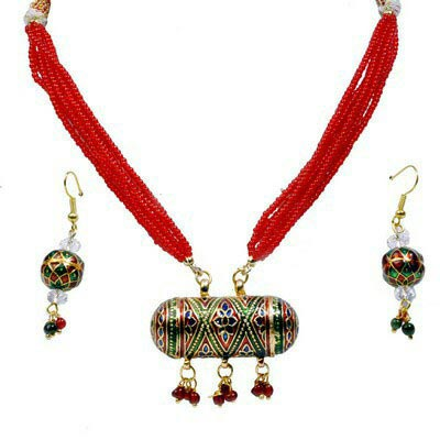 Meenakari Necklace Set 04