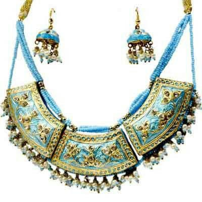 Meenakari Necklace Set 05