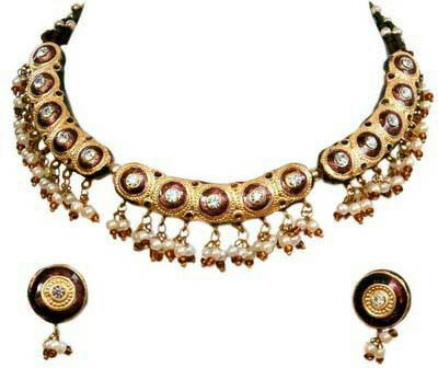 Meenakari Necklace Set 06