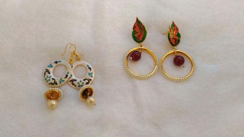 Meenakari Earrings 01