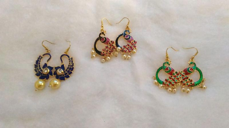 Meenakari Earrings 03