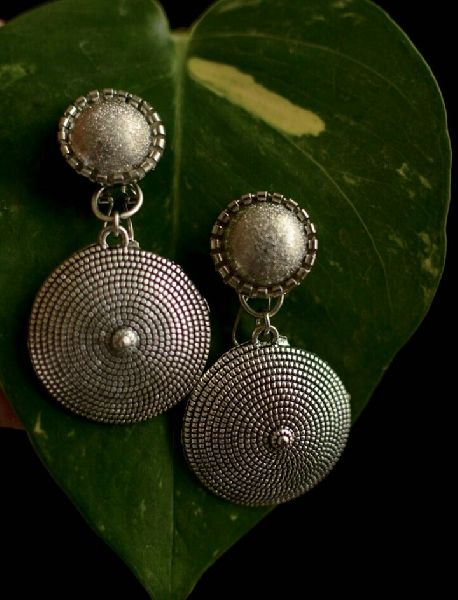 Oxidized Silver Earrings 04