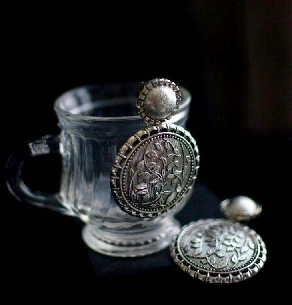 Oxidized Silver Earrings 05