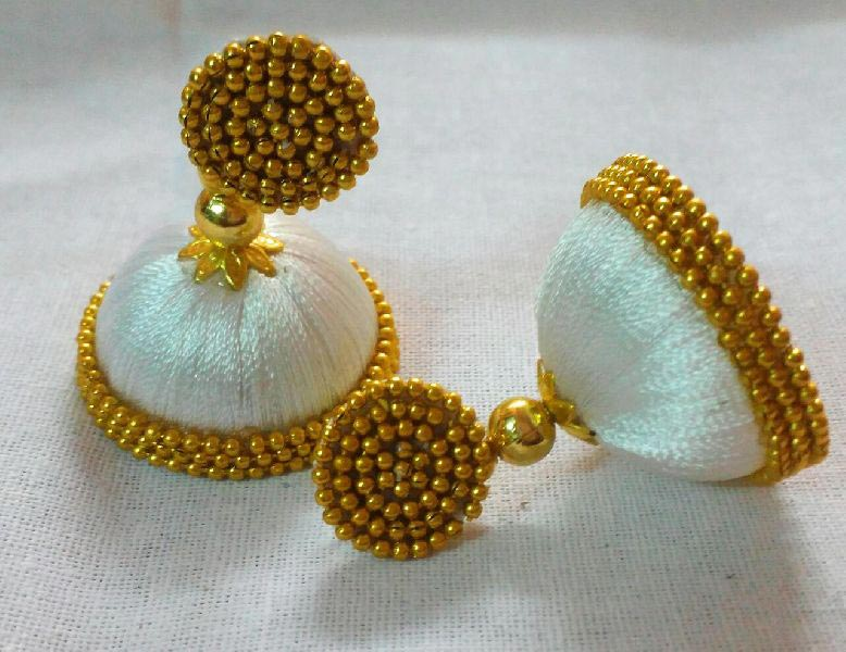 Silk Thread Earrings 01