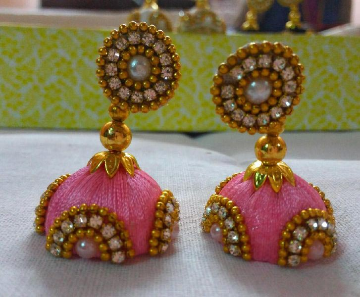 Silk Thread Earrings 04