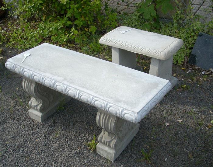 Cement Garden Bench 01