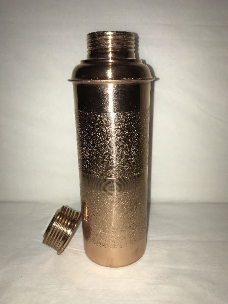 Bisleri Etching Copper Bottle