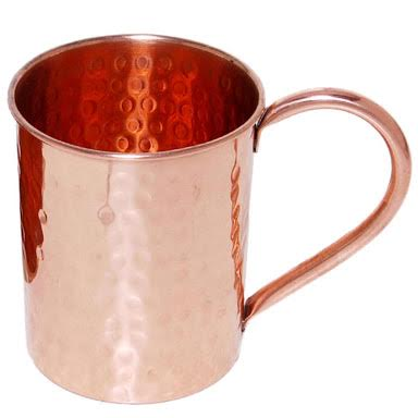 Straight Hammered Copper Mug