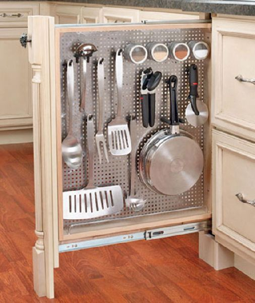 Kitchen Utensil Storage Rack Designing