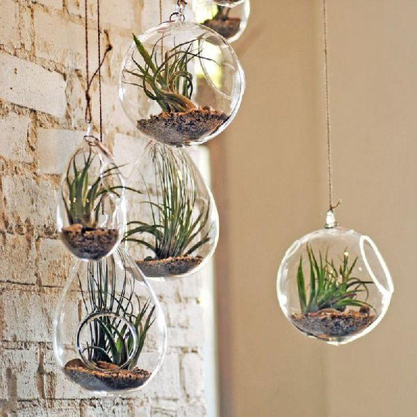 Hanging Glass Flower Pots 01