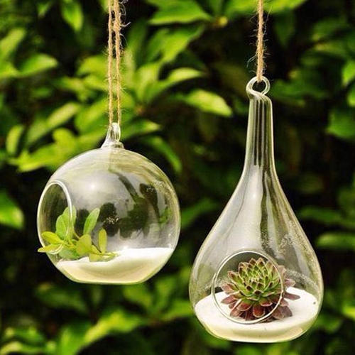 Hanging Glass Flower Pots 02