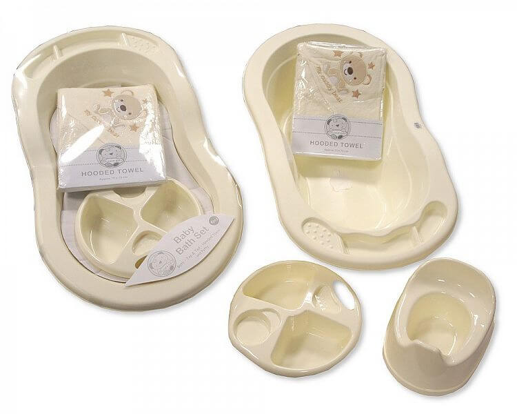 4 Pieces Baby Bath Set