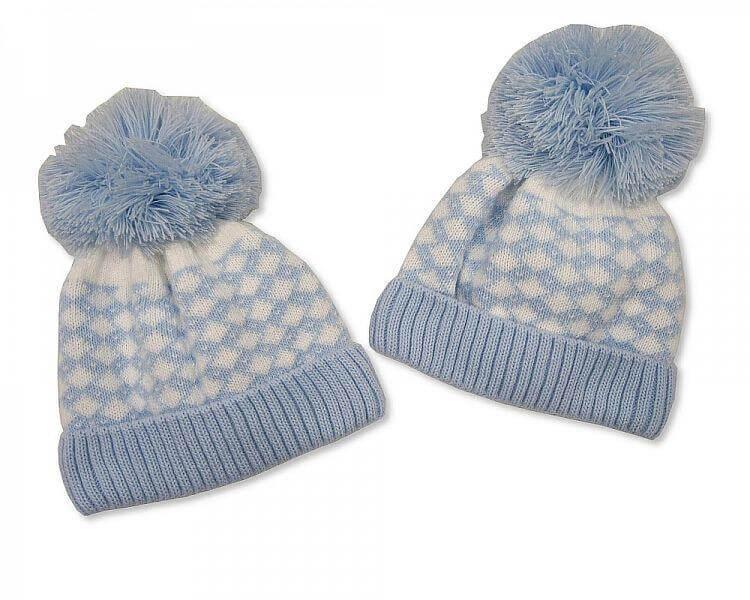 Baby Boy Pom-Pom Hats