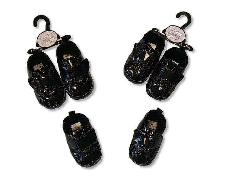 Baby Boys Black Shoes