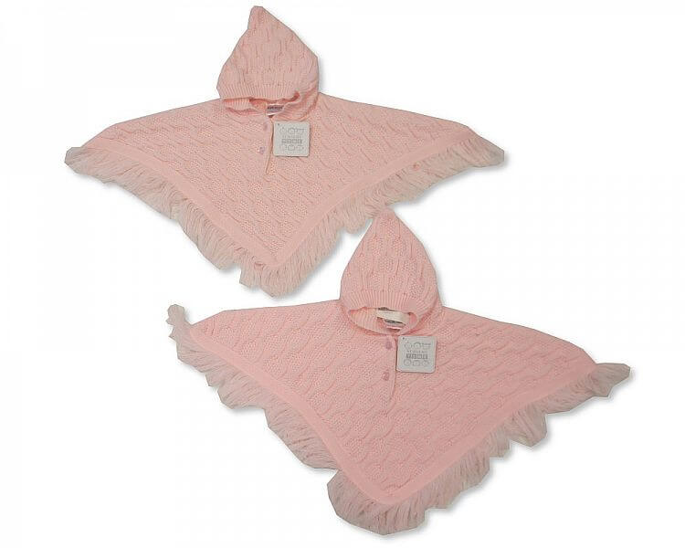 Baby Girl Knitted Poncho
