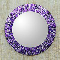 Round Mosaic Mirrors