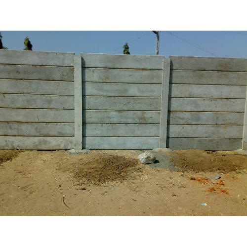 Grey RCC Compound Boundary Walls