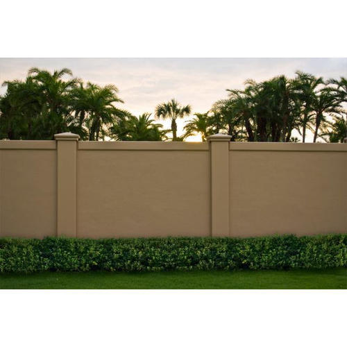 Yellow RCC Compound Boundary Walls