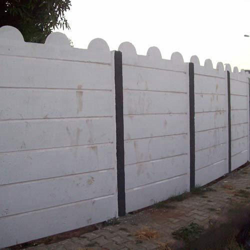 White RCC Compound Boundary Walls