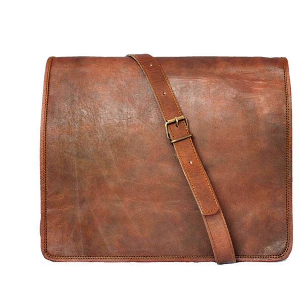 LB003MB Leather Messenger Bag