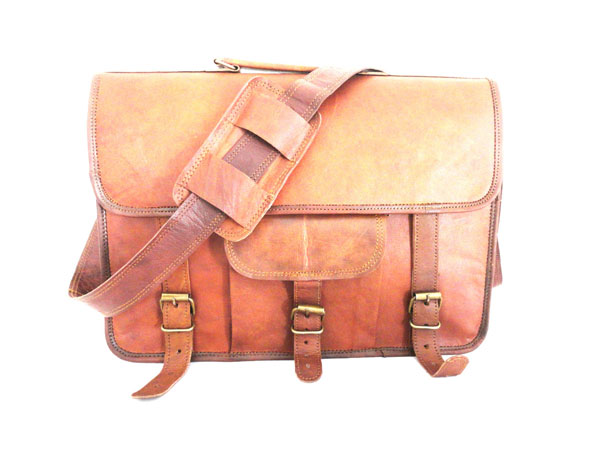 LB006MB Leather Briefcase Bag