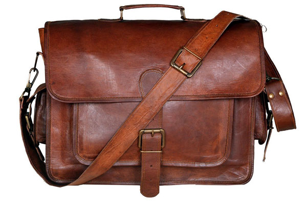 LB007MB Leather Briefcase Bag