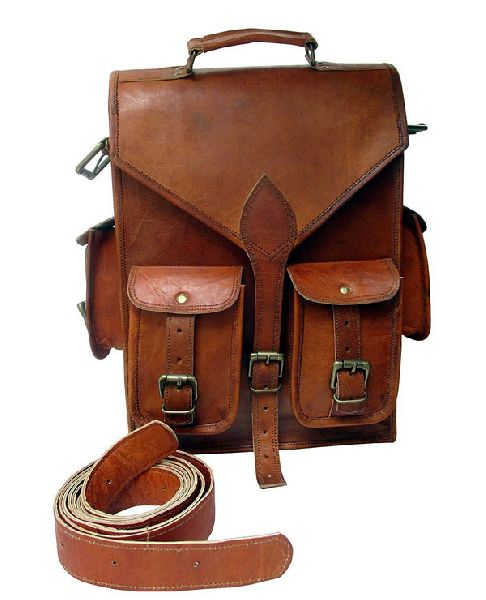 LB011MB Leather Rucksack Bag