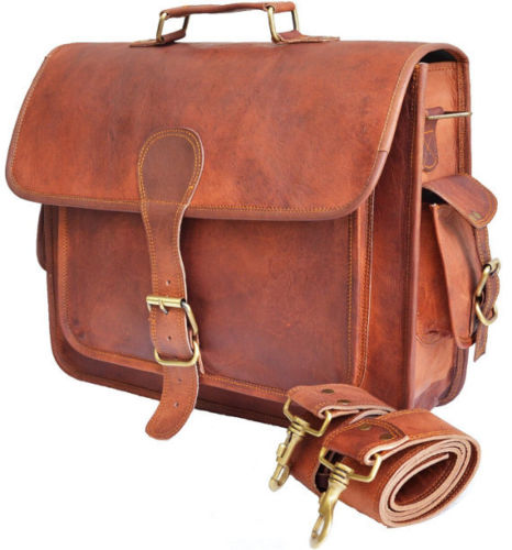 LB013MB Leather Briefcase Bag