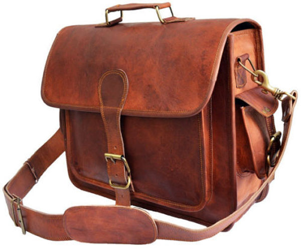 LB014MB Leather Briefcase Bag