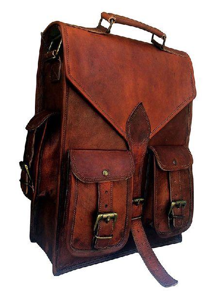 LB014MB Leather Messenger Bag