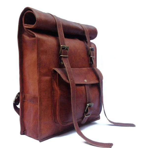 LB014MB Leather Rucksack Bag
