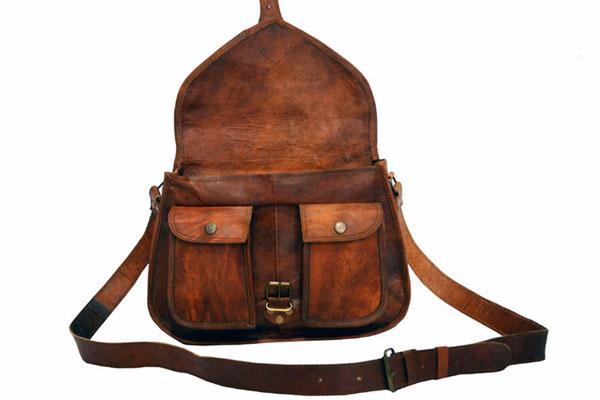LB015MB Ladies Leather Satchel Bag