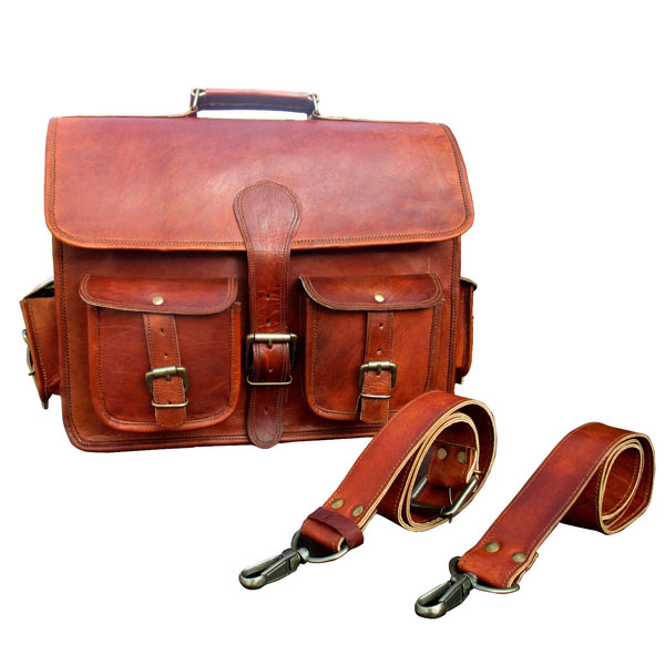 LB016MB Leather Briefcase Bag