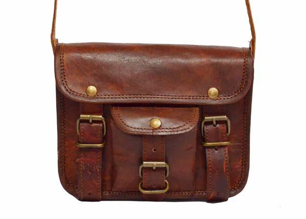 LB018MB Mens Leather Satchel Bag