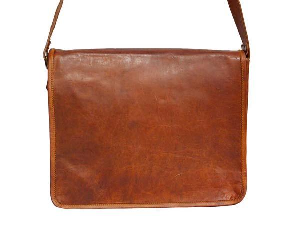 LB019MB Leather Messenger Bag