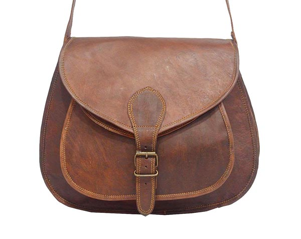 LB020MB Ladies Leather Satchel Bag
