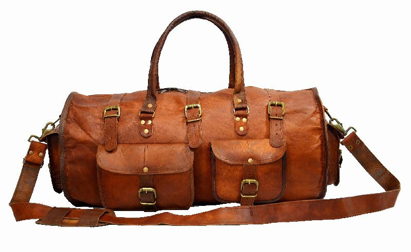 LB021MB Leather Travel Bag