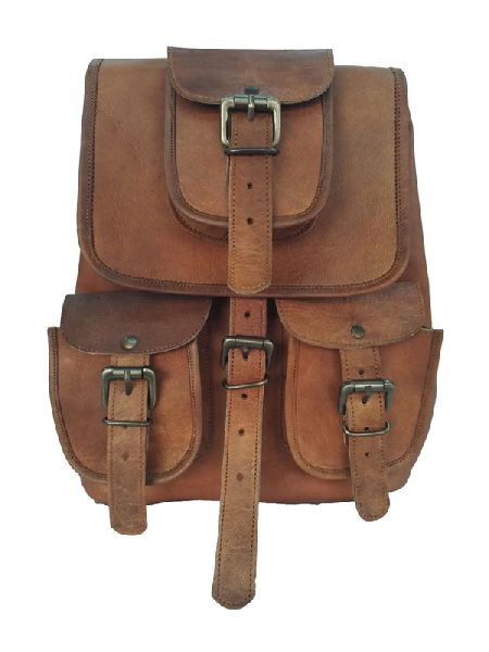 LB035MB Leather Rucksack Bag