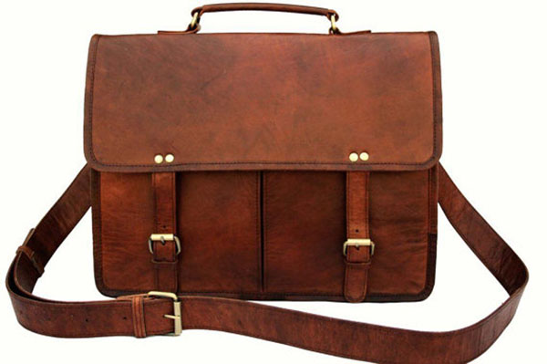 LB038MB Leather Laptop Bag