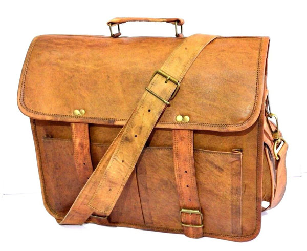 LB039MB Leather Laptop Bag