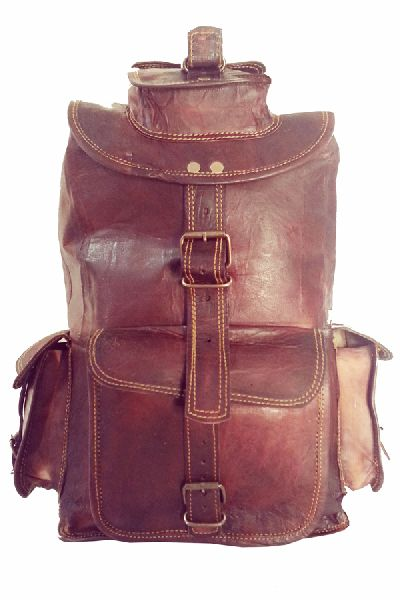 LB068MB Leather Rucksack Bag