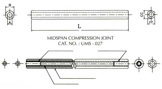 Midspan compression joint for