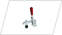 Vertical Handle Flanged Base Hold Down Toggle Clamp