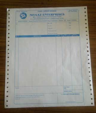Dot Matrix Printer Paper